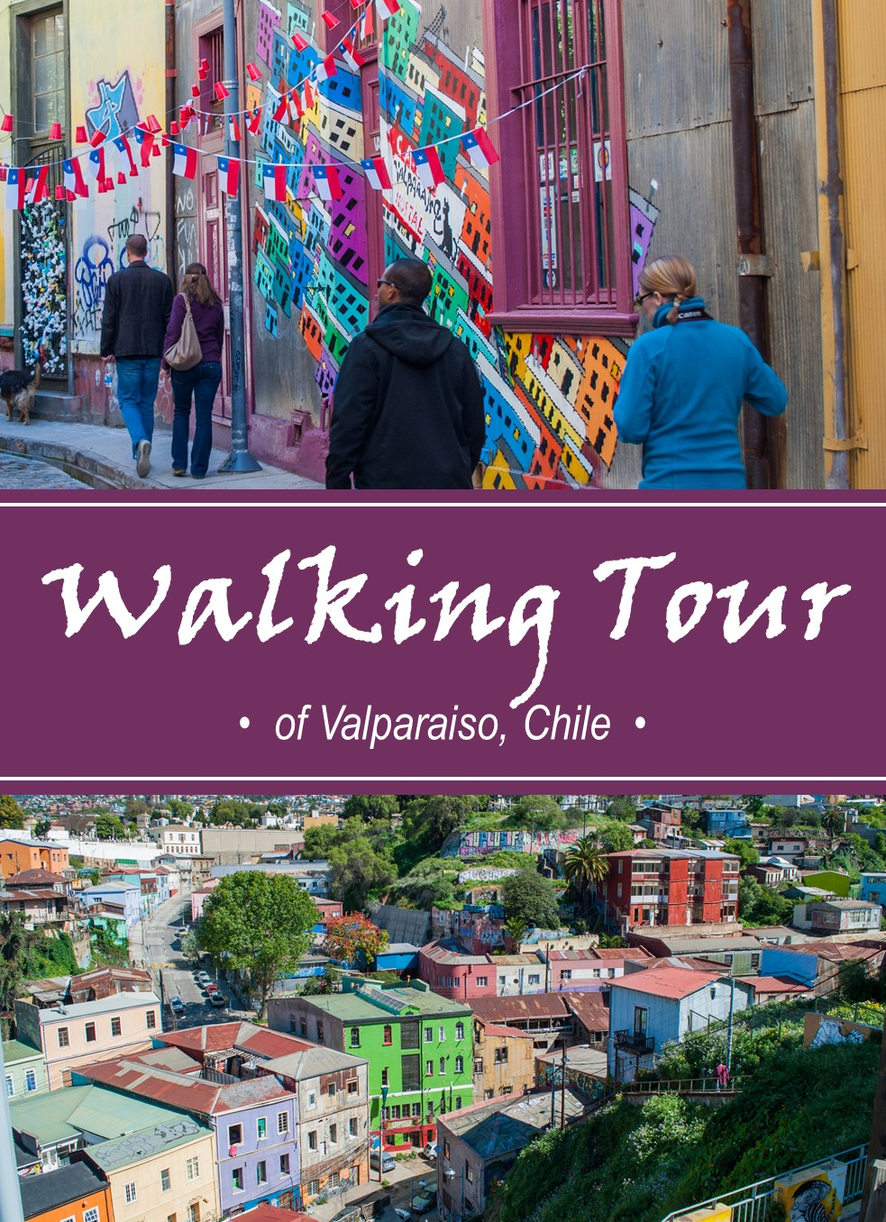 "For an overview of the port city of Valparaiso, Chile, including its history, street art and steep cerros (hills), take Tours4Tips ""Highlights Walking Tour"""