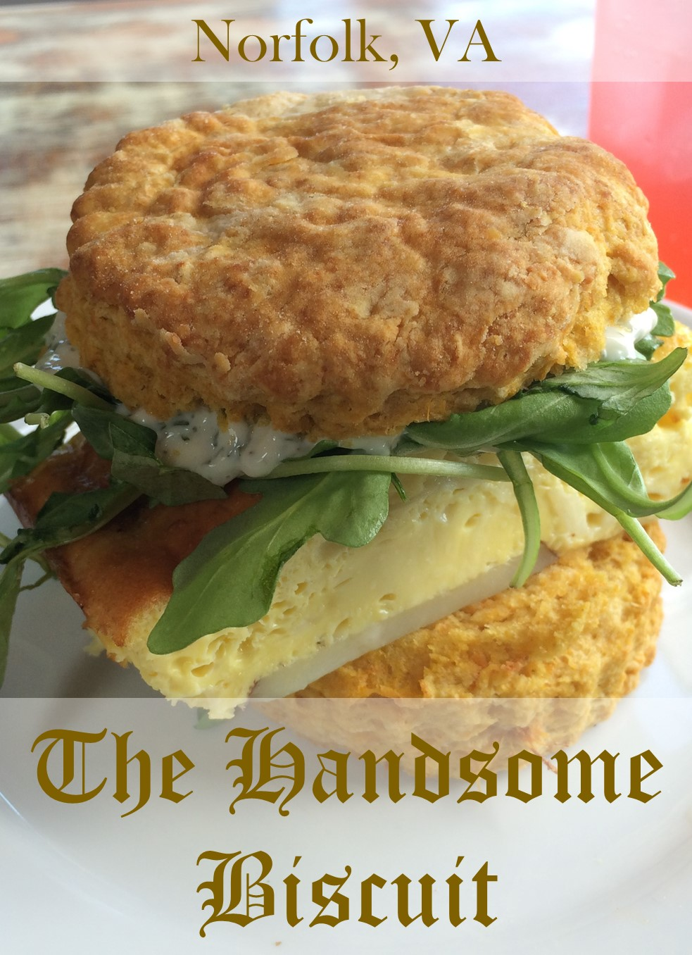 For a damn good sweet potato biscuit in Norfolk, Virginia, loaded with your favorite breakfast or lunch fixins, look no further than the Handsome Biscuit.