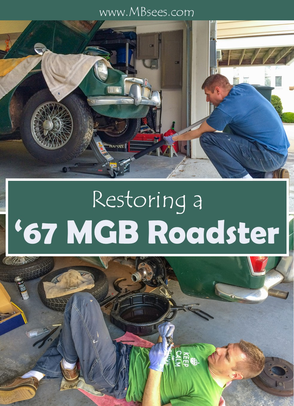We did an MG restoration… on a 1967 MGB Roadster! Here's how we went about restoring an MG convertible, where we got MG parts, and who provided MG service for our classic car restoration project. Save this pin! #MGconvertible #MGrestoration #MGBRoadster #classiccarrestoration
