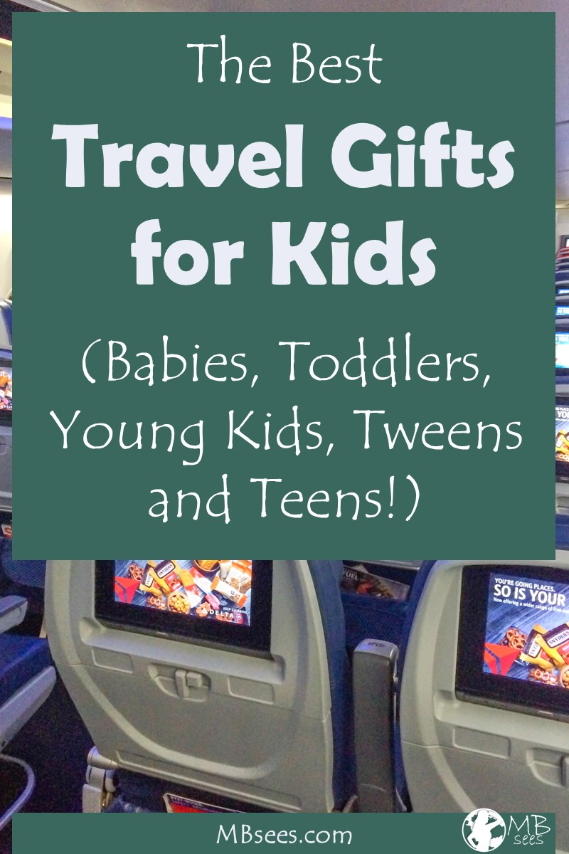 Have kids who travel? Here are the best travel gifts for kids, including baby travel gifts, travel gifts for children, travel gifts for tweens, and even a couple unique travel gifts for parents! #travelwithkids #kidstravelgear #travelproducts #travelgear #familytravel kidstravelproducts #familytravelproducts #familytravelgear