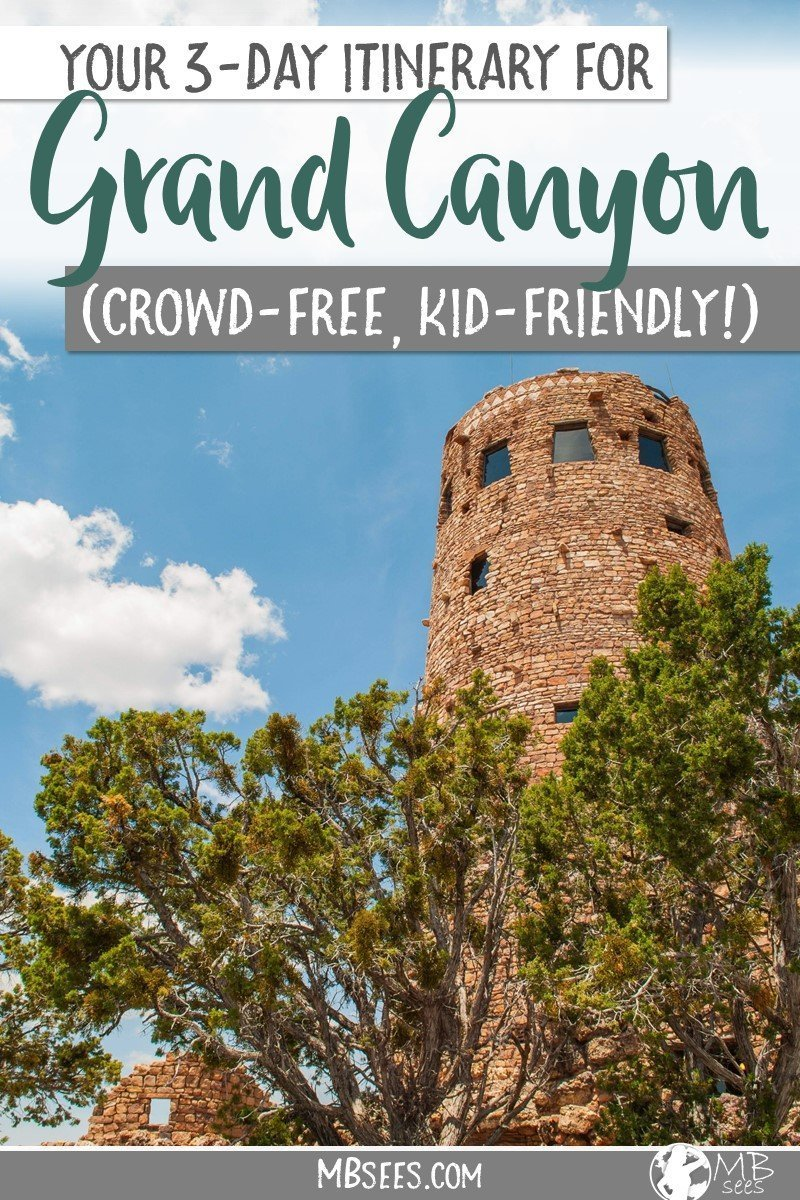 Visiting the Grand Canyon with toddler in tow? Here's your guide for the Grand Canyon with kids, including Grand Canyon things to do, baby-friendly Grand Canyon south rim hikes, tips and advice for your family's Grand Canyon vacation, and a kid-friendly 3-day Grand Canyon itinerary! Save this pin for later, and enjoy planning your Grand Canyon road trip! #GrandCanyon #GrandCanyonwithkids #GrandCanyonhikes #GrandCanyonitinerary